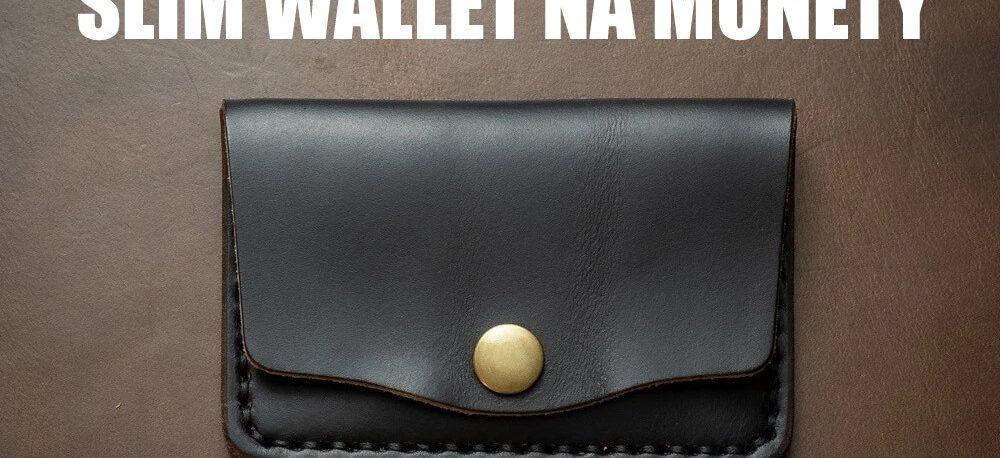 portfel męski slim z kieszenią na monety